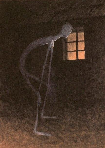 « одного шедевра». «Смерть, глядящая в окно умирающего». Ярослав Панушка (Jaroslav Panuša)