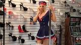 Amber Rose Sailor Costume Indulge High Heels Stockings