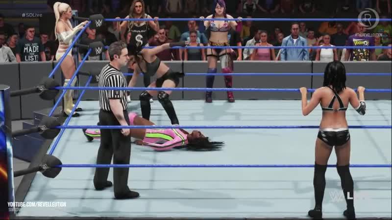 Naomi, Lana, Carmella Asuka Vs Billie, Peyton, Mandy Sonya- SmackDown Live WWE2K19 SDLive