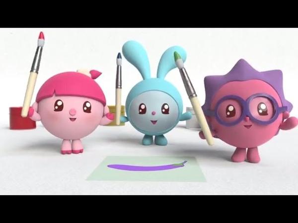 Фиолетовый - Умные песенки - Учим цвета - Малышарики - развивающая песенка для детей, малышей краски
