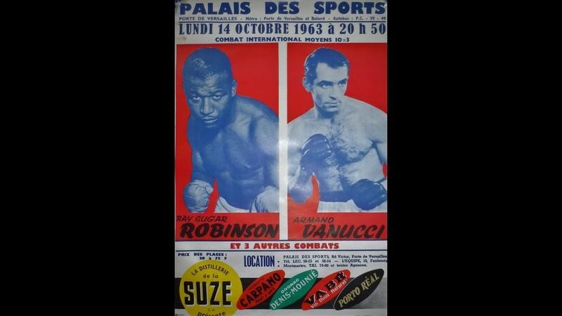 Sugar Ray Robinson Beats Armand Vanucci This Day October 14 1963