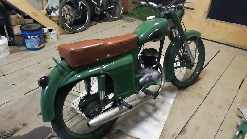 Запуск ретро мотоцикла М 104 1965 года выпуска 22.08.18г.