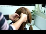 Красивая прическа на средние и длинные волосы. Причёска на средние волосы с чёлкой