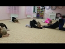 Немного о том, как проходят занятия в студии художественной гимнастики в детском центре Катюша - средняя группа.
