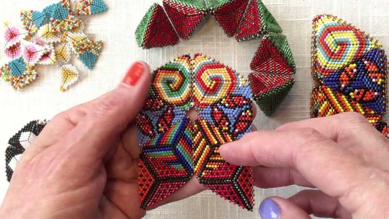 Contemporary Geometric Beadwork The Flower Face Join for a Simple Kaleidocycle PART ONE
