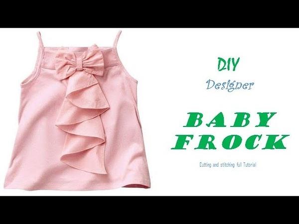 DIY Designer BABY FROCK cutting and Stitching full tutorialpinz creation