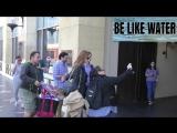 Karen Gillan Pom Klementieff at Zoe Saldana Hollywood Walk of Fame star ceremo