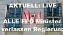 NEWS Alle FPÖ Minster verlassen Regierung Live
