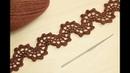 Ленточное кружево ВОЛНА вязание крючком