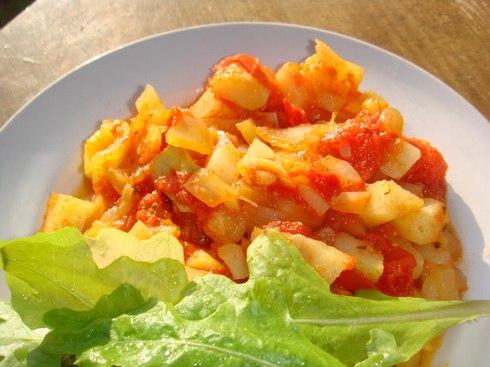 Тушеные кабачки с помидорами фото