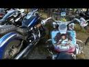 Американский Контейнер.Ряд с Заказными Мотоциклами........