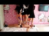 Three (Four) Chinese Girls Trample
