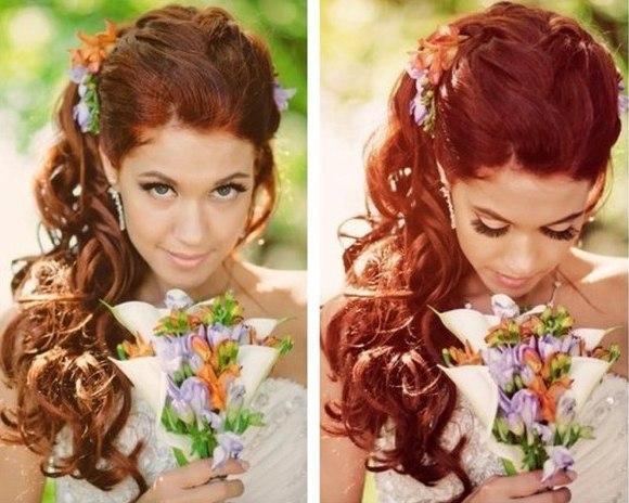 Причёски на свадьбу в домашних условиях