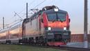 Приветливый машиинст на ЭП20-042 со скорым двухэтажным поездом №738 Москва - Воронеж :-)