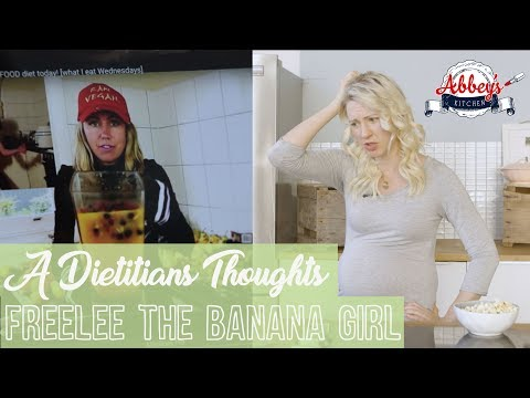 A DIETITIAN'S Thoughts on FREELEE the Banana Girl | Raw Till 4 | What I Eat in a Day