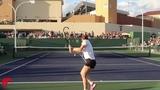 Simona Halep Training Indian Wells 2019 - Court Level View