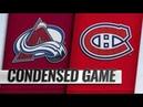 Colorado Avalanche vs Montreal Canadiens | Jan.12, 2019