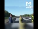 Autoroute de Komsomolsk à Khabarovsk L'armée a bloqué la route pour l'entraînement de plusieurs avions de combat