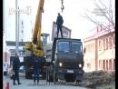 Демонтаж бесполезного бетонного забора в 1 микрорайоне