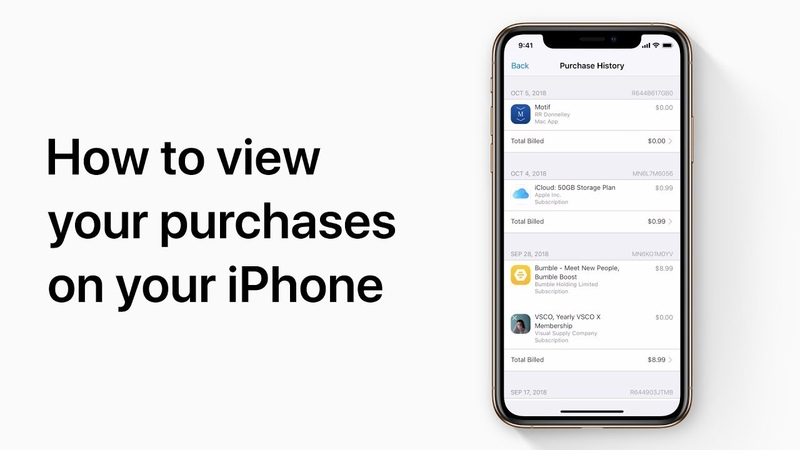 How to view your purchases on your iPhone Apple Support
