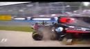 Жесткая авария Фернандо Алонсо на Гран При Формулы-1 в Австралии