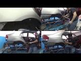 Kia Cerato. приварка заднего крыла. неудачный монтаж((