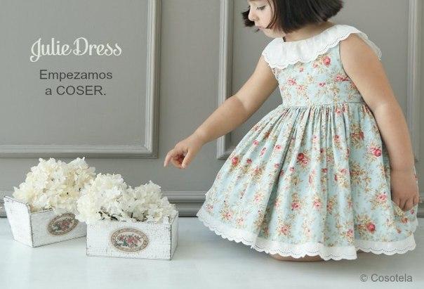 Шьем платье для девочки (10 фото) - картинка