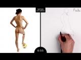 Proko Figure drawing fundamentals - 01 Gesture - Gesture Quicksketch - 2 Minute Pose (16)
