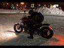 балансировка маховика зимой на мотоцикле Yamaha Dragstar на крыше BMW E36 coupe дрифт 3 этап Коми
