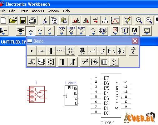 """Electronics Workbench 5.12 - программа для моделирования электронных схем.  Цифровая микроэлектроника!"