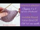 Abnähen unsichtbar Italienisch Rippen rechts links Invisible italian Grafting Ribbing