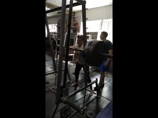 squat 170kg × 3 (own weight 59)