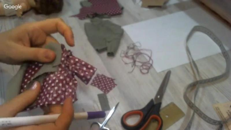 Стильный пиджак для кукол с подкладом. МК от Альбины Глумовой