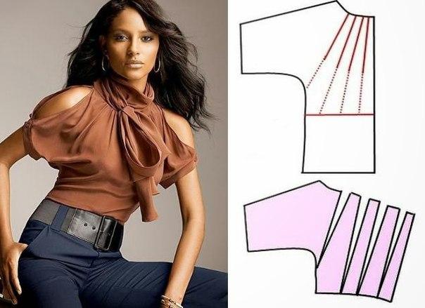 Бесплатные выкройки и идеи переделок одежды...