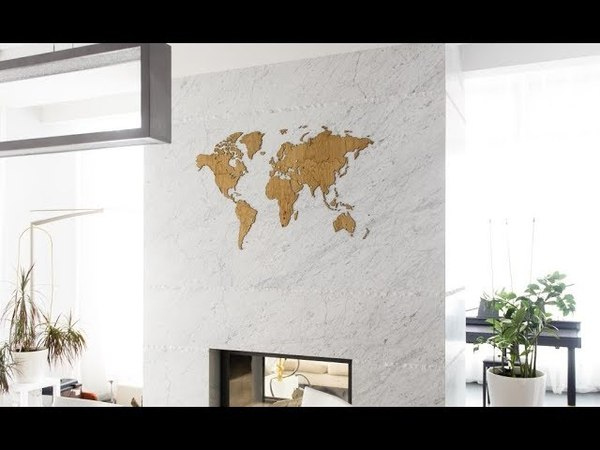 World Map Wall Decoration EXCLUSIVE edition by MiMi innovations
