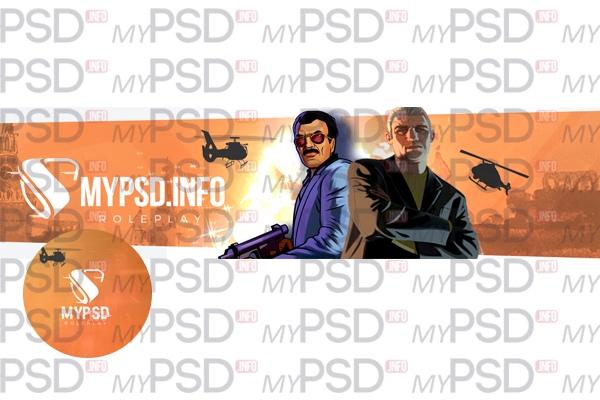 Шапка и аватарка для VK PSD