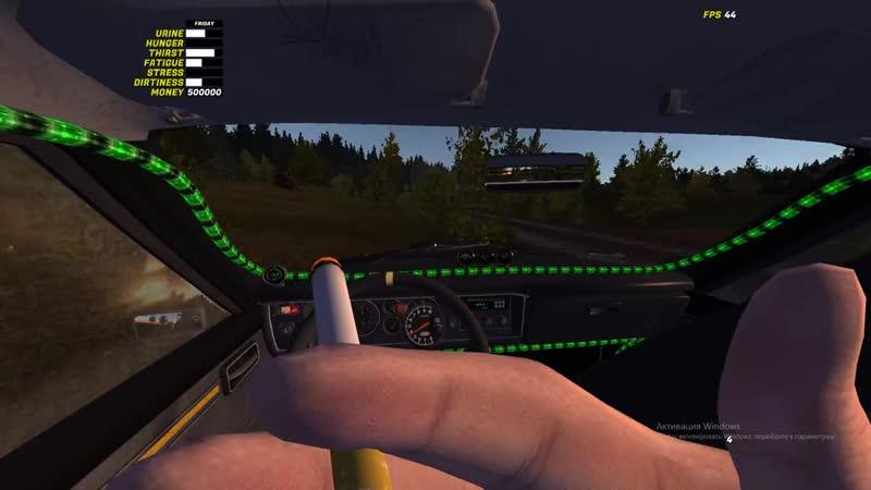 Молодой олигарх(Дмитрий Макаров) отдыхает в своем Lamborghini и покуривает дорогую сигаретку за 50000$