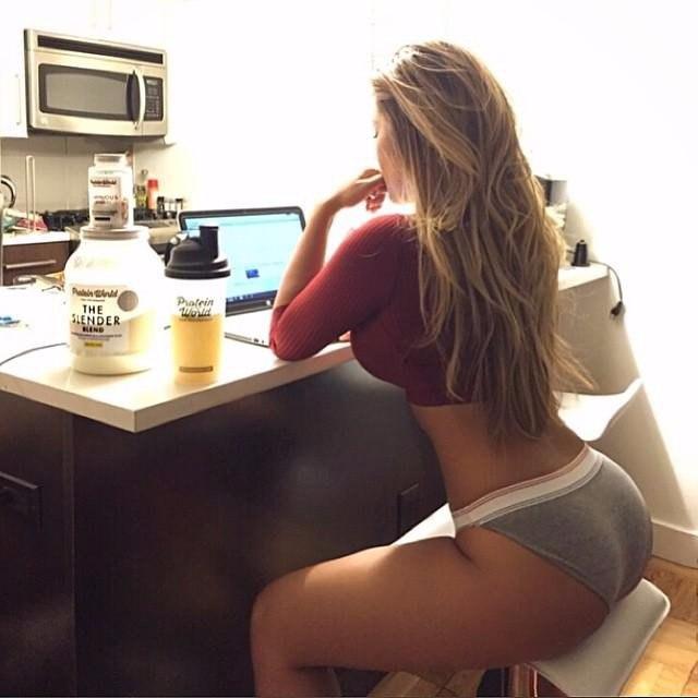 Classy blonde hoe masturbates in hot underware