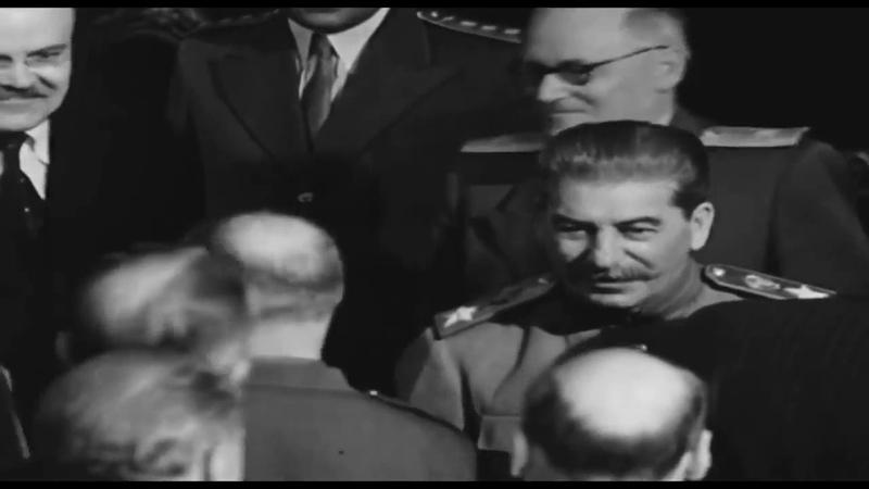 Сталин в Потсдаме, июль 1945, уникальные кадры хроники