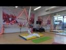 Алиса Ловыгина начинающие Первый чемпионат по воздушной гимнастике Еврофитнес