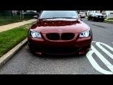 My BMW Indianapolis Red E60 M5 w/ blacked out headlights and Umnitza Orion V2 AE http://vk.com/umnitzabmw