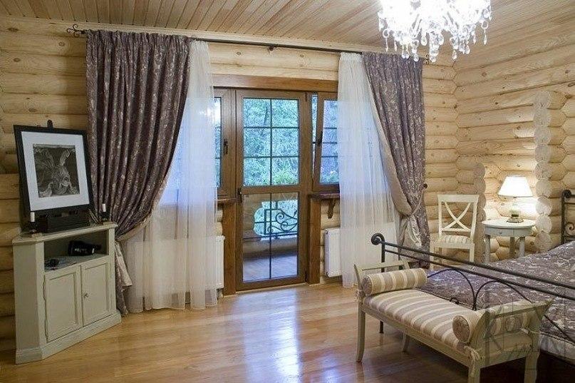 Дизайн интерьера для дома из бревна