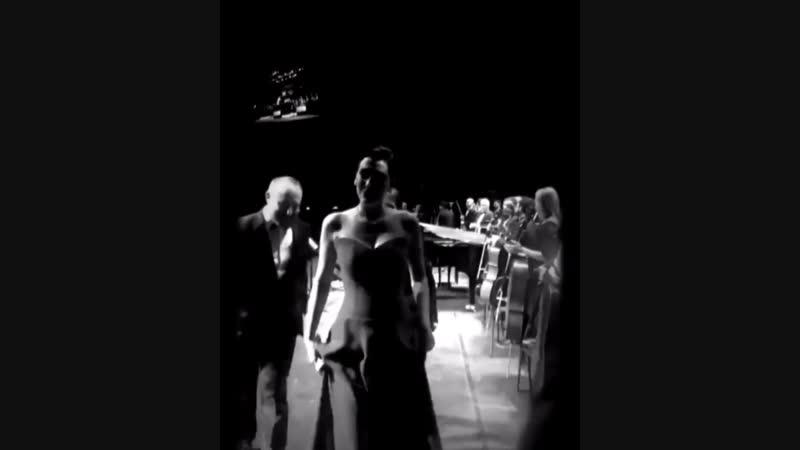 Халит и Бергюзар после концерта (07.01.2019 г.)