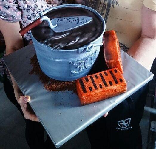 Торт на день рождения строителя (1 фото) - картинка
