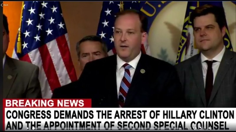 Congress Demands the Arrest of Hillary Clinton 5/22/18 pt1