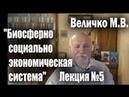 Величко М В Биосферно социально экономическая система как объект управления Лекция №5