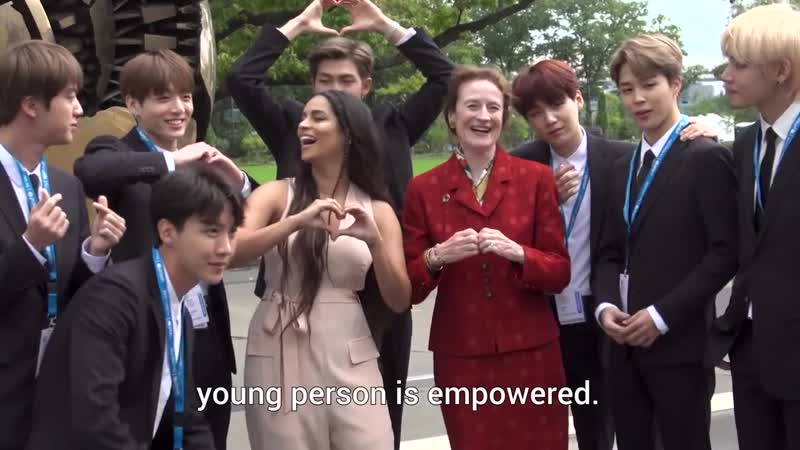 180924 BTS and Lilly Singh speak up for young people - UNICEF