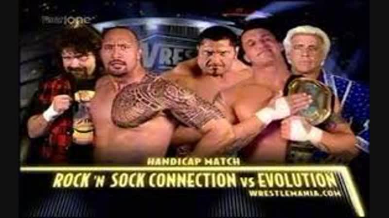 WWE Mania WrestleMania XX The Rock 'n' Sock Connection vs Evolution