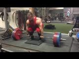 Дэн Грин - тяга с подставки 345 кг