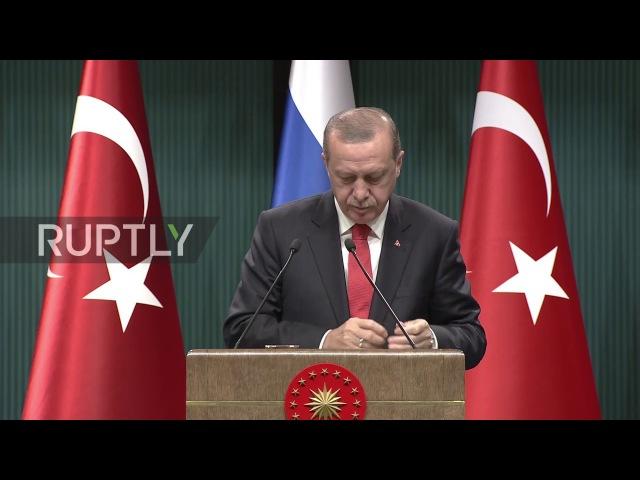 Turkey: Putin and Erdogan agree to coordinate on Syria peace settlement